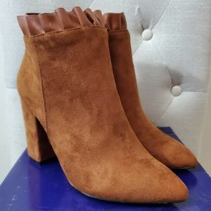 Athena Alexander Brown Suede Booties